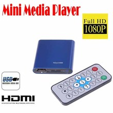 by dhl or ems 10 pieces 1080P HDMI SD/USB HD Mini Media Player MKV/RM 1080 brand new and high quality(China (Mainland))