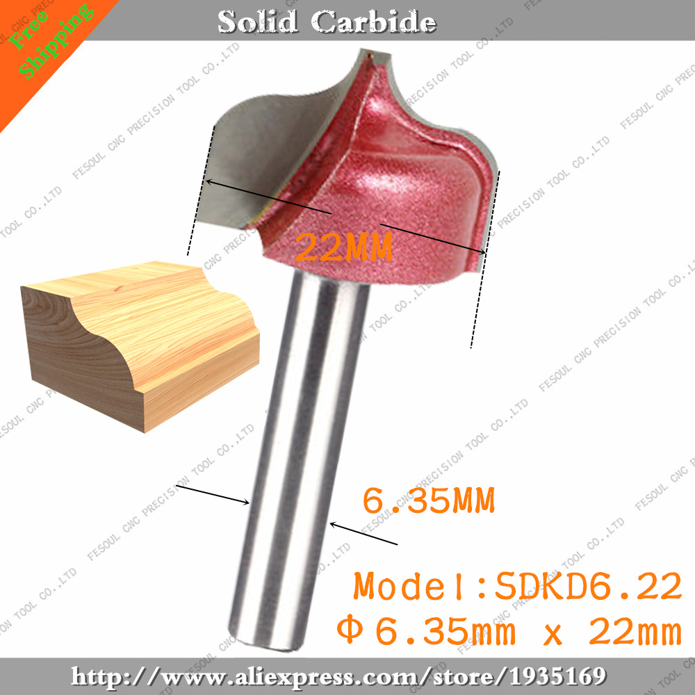 6.35mm*22mm-10pcs,Free shipping CNC 3D Engraving Woodworking Milling Cutter,Solid carbide End Mill,Wood Tools,insert Router Bit(China (Mainland))