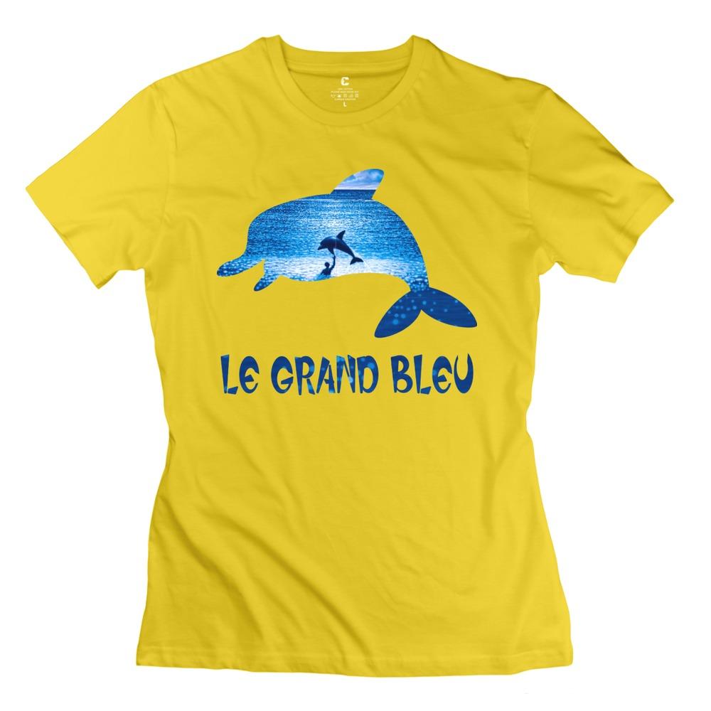 new brand clothes geek Le Grand Bleu Movie 5 o collar womens flag t shirt for women(China (Mainland))