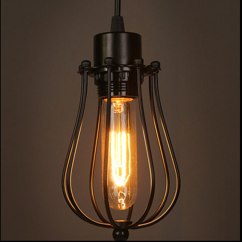 LOFT Vintage lamp chandeliers E26/E27 metal T10 pendant Restaurant bar sitting room LED lighting light fixture(China (Mainland))