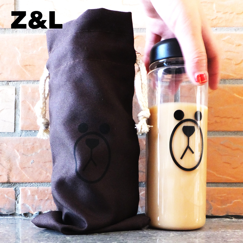 Гаджет  2015 new Korea Style Plastic 500ml Fashion sport My bottle lemon juice readily cup space cup water bottles With Gift Bag Z&L None Дом и Сад