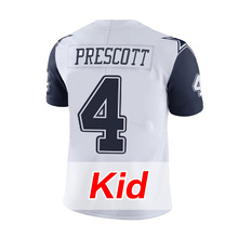 Men's #4 Dak Prescott #21 Ezekiel Elliott #88 Dez Bryant #82 Jason Witten White Color Rush Limited youth kid Adult(China (Mainland))