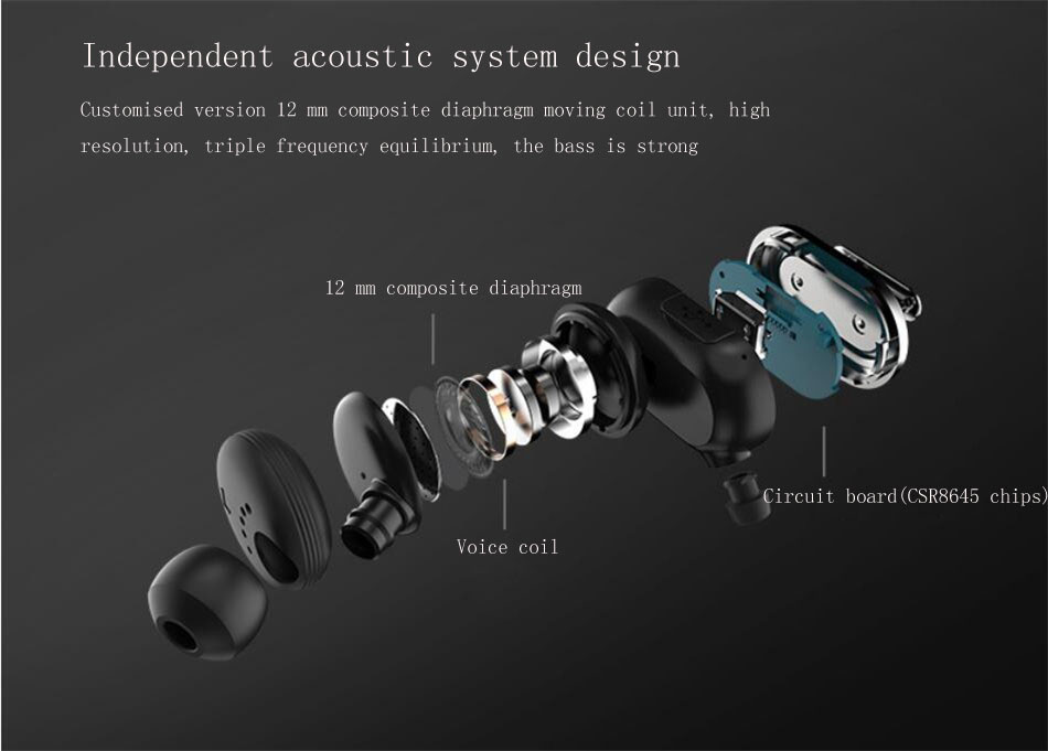 New Macaw T1000 Bluetooth Earphone In Ear Wireless Earbuds Waterproof Earphone Stereo Auriculares Running Sport Headset With Mic