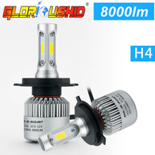 Buy Super bright Led Light Car H11 H7 H4 H1 H3 Car LED Headlights 72W 8000LM COB Bulbs Automobiles Replace Parts Lamp 6500k xenon H4 for $14.63 in AliExpress store