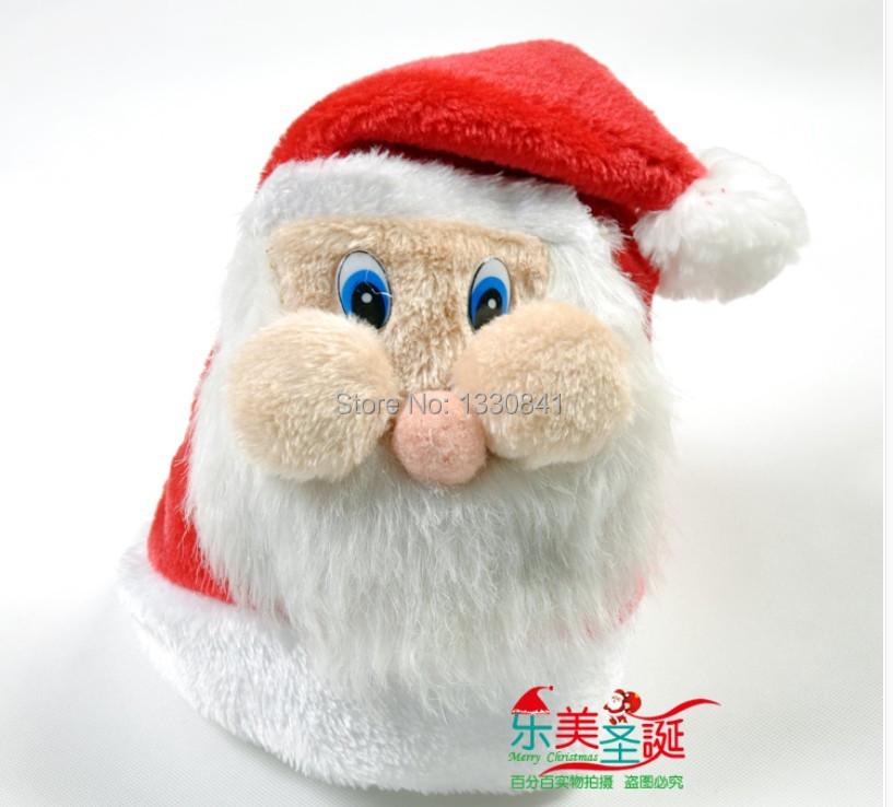 Wholesale hot sale Christmas decorations Christmas hat high quality Christmas hat Santa Claus facebook cap Plush Christmas hat 8(China (Mainland))