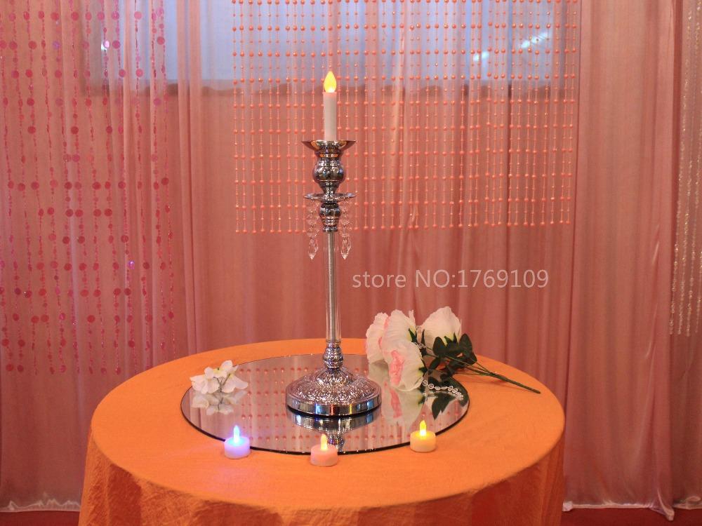 HOT SALE wedding decoration centerpiece k9 crystal beads candle holder D14 H44cm(China (Mainland))