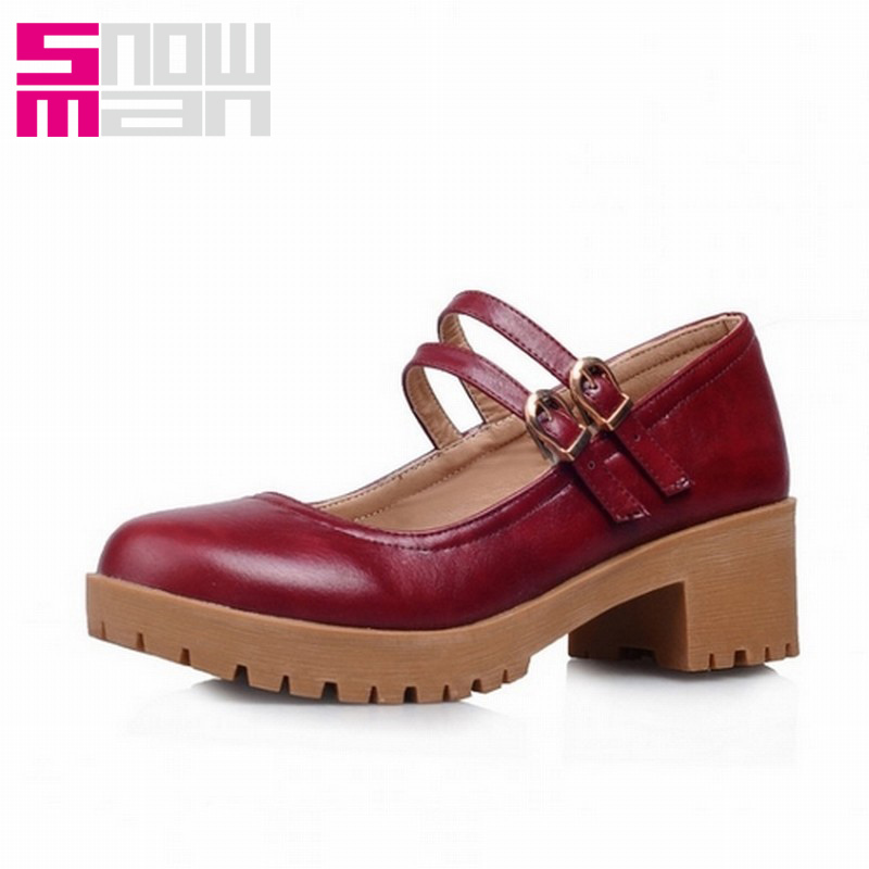 Big Size 34-43 Women Square Heells Women Summer Mary Jane Pumps Fashion Square Heels Women gladiator pumps casual shoes<br><br>Aliexpress
