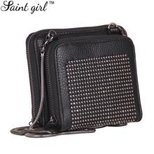 Saint Girl Small Mini Bag Casual Women's Shoulder Crossbody Bags Handbag Fashion PU Lady Rivet Bag For Women Purse SNS047