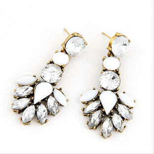 Good quality SALE NEW 2014 Vintage Jewelry Crystal Stud Earring Women statement earrings Christmas Gift 20 - Olaru Store store