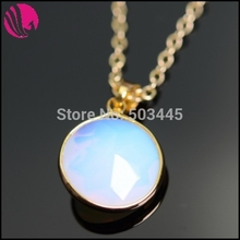 Women Boho Sapphire Crystal Amethyst Druzy Quartz Colares 18K Gold Plated Natural Stone Pendant Necklaces Jewelry