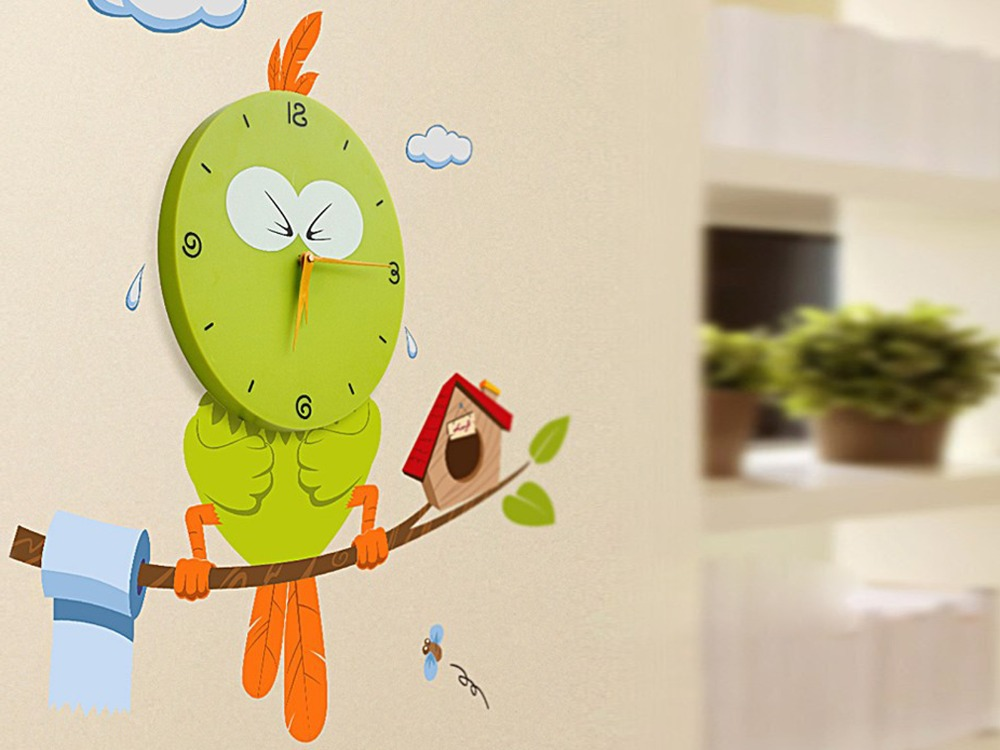 Creative DIY Modern Design Funny Bird Adhesive ...