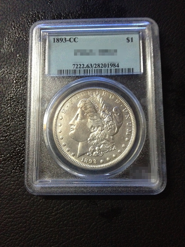 1893-CC US Morgan 90% Pure Silver Dollar In Case(China (Mainland))