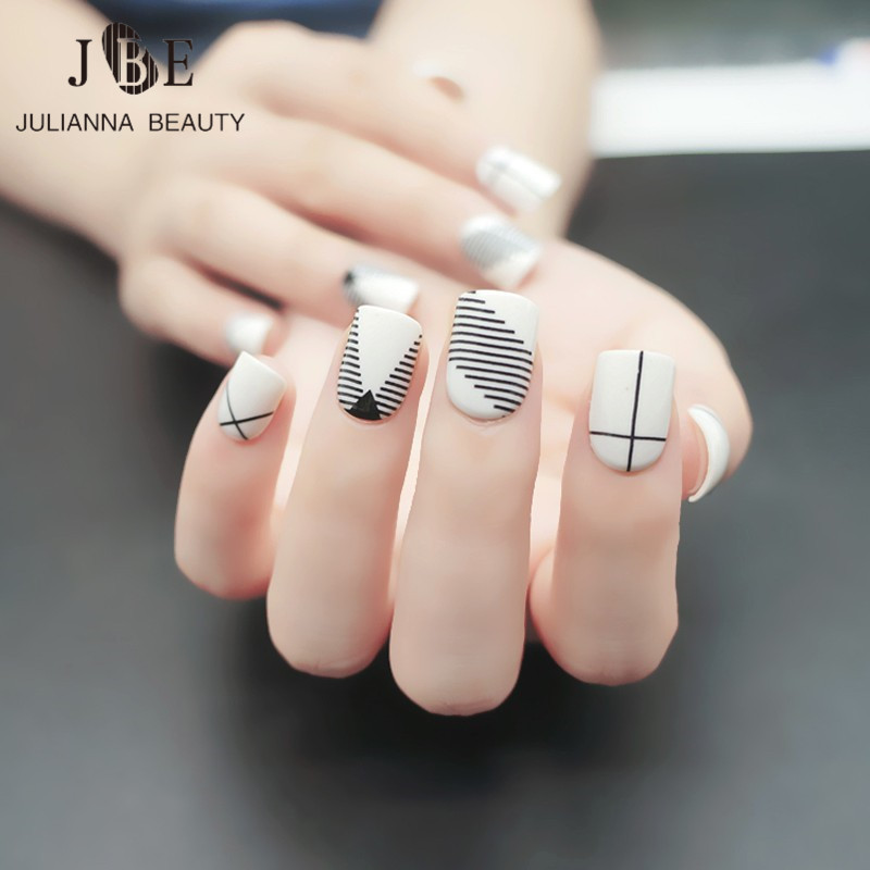 Designer Nail Tips Fashion Fake Nail Tips For Child Pre Designed Kid ...