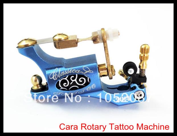 High Performance Blue Cara Aluminum Alloy Rotary Motor Tattoo Machine Gun for Grips Needles Liner Shader Free Shipping(China (Mainland))