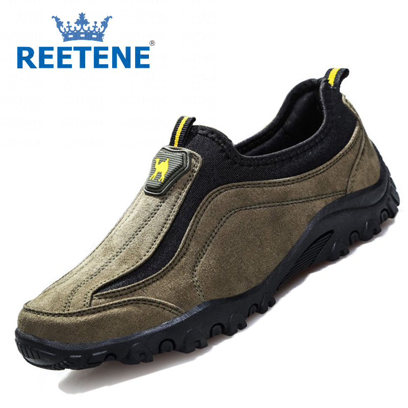 Fashion Suede Shoes Men Summer Nubuck Leather Luxury Brand Loafers Flats Breathable Casual - REETENE store