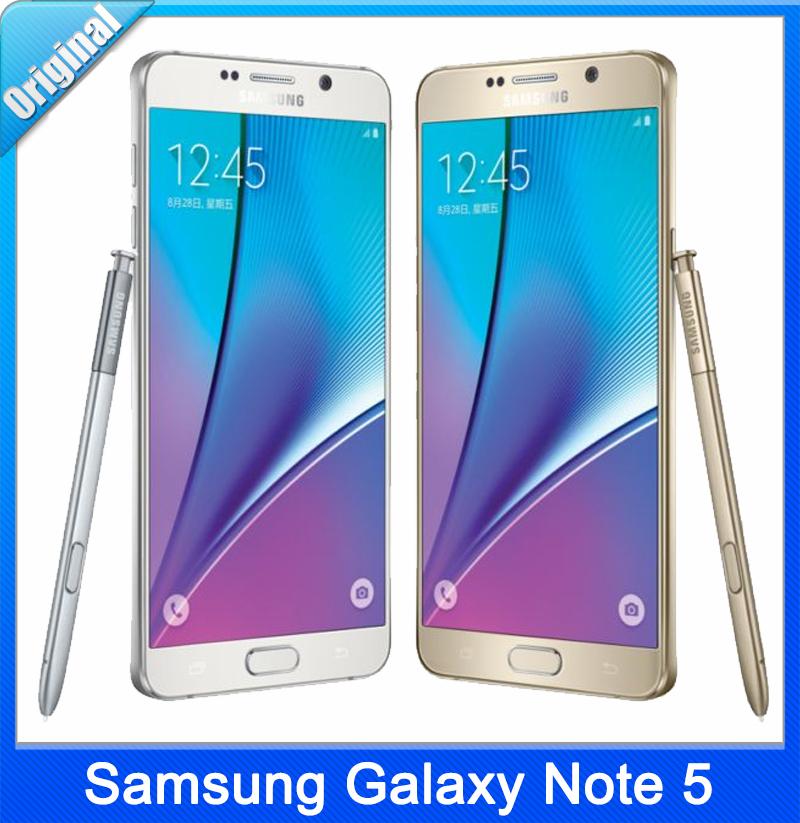 "Original Samsung Galaxy Note 5 N920A Phone Octa Core 4G RAM 32G ROM Camera 5.7"" Cell Phone Brand New DHL Free Shipping(China (Mainland))"