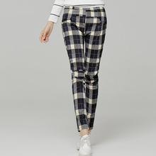 S-XXL Women Winter Pants 2015 Women Autumn Plaid Print Casual Pants Fashion Slim Plus Bootcut Pencil Legging Pants Trousers (China (Mainland))