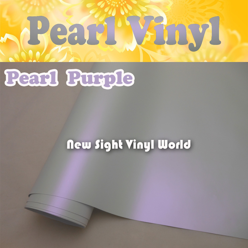 Premium Satin Purple Pearl Vinyl Car Wrap Matte Purple Pearl Film Air Free Bubble Vehicle Wraps Size:1.52*20M/Roll (5ft x 65ft)