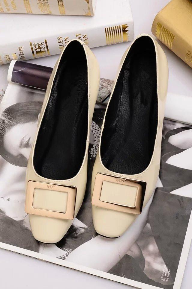 2016 Paris Fashion Women Pumps Low Heel 2cm Shoes Buckle 100% Suede Patent Leather Luxury Brand Genuine Leather Dress OL Casual<br><br>Aliexpress
