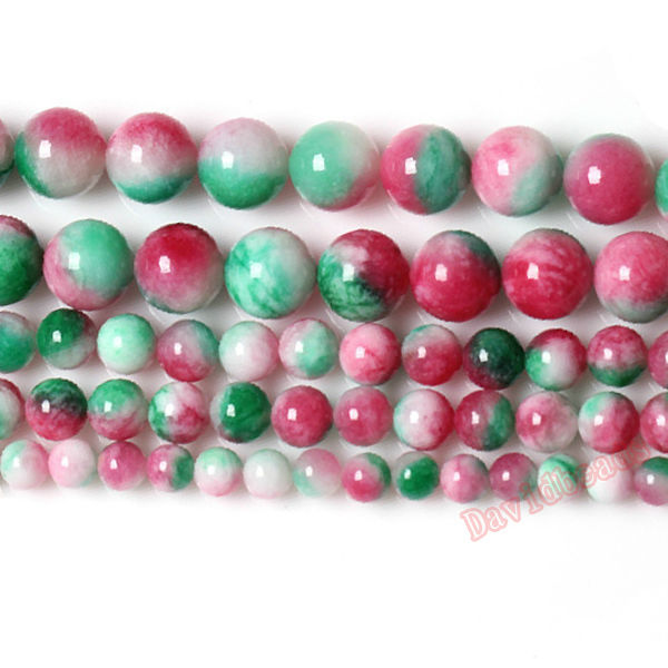 Fctory Price Natural Stone Rose Green Malaysia Jade Loose Beads 6 8 10 MM Pick Size For Jewelry Making diy(China (Mainland))