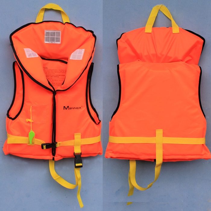 Manner child pullover life vest storage buoyancy clothing inflatable rubber boat for children life jackets(China (Mainland))