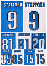 Stitched 20 Barry Sanders 81 Calvin Johnson Jerseys 9 Matthew Stafford 15 Golden Tate 85 Eric Ebron Elite Jerseys(China (Mainland))