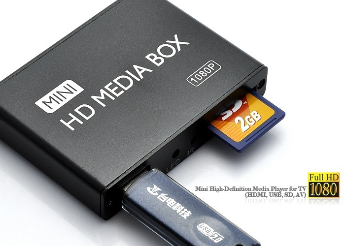 Mini HDMI Media Player 1080P Full HD TV Video multimedia player box support MKV/RM-SD/USB/SDHC/MMC HDD-HDMI(China (Mainland))