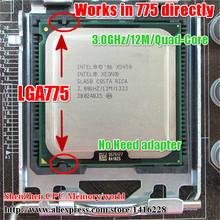 Xeon x5450 cpu 3,0 GHz/12MB/1333 mhz lga775-prozessor nahe core 2 quad q9650 funktioniert auf lga775 mainboards keine Notwendigkeit adapter(China (Mainland))