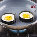 Free Shipping Supreme Set of 2 Egg Ring Round Metal Stainless Steel NonStick Form Mold Breakfast