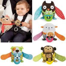 Peluche poupée hochet enfants bébé jouet de dentition cloche Playmate mous jouets Owl calme Doll dentition mignon peek - a - boo Hot cadeau pour enfants(China (Mainland))