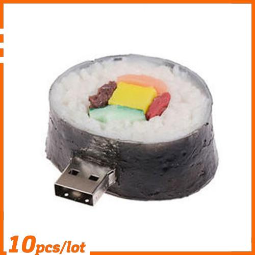 100% Genuine USB Flash Drive cartoon circle sushi rice ball shaped memory stick pen drive 4GB 8GB 16GB 32GB 64GB pendrive hot(China (Mainland))