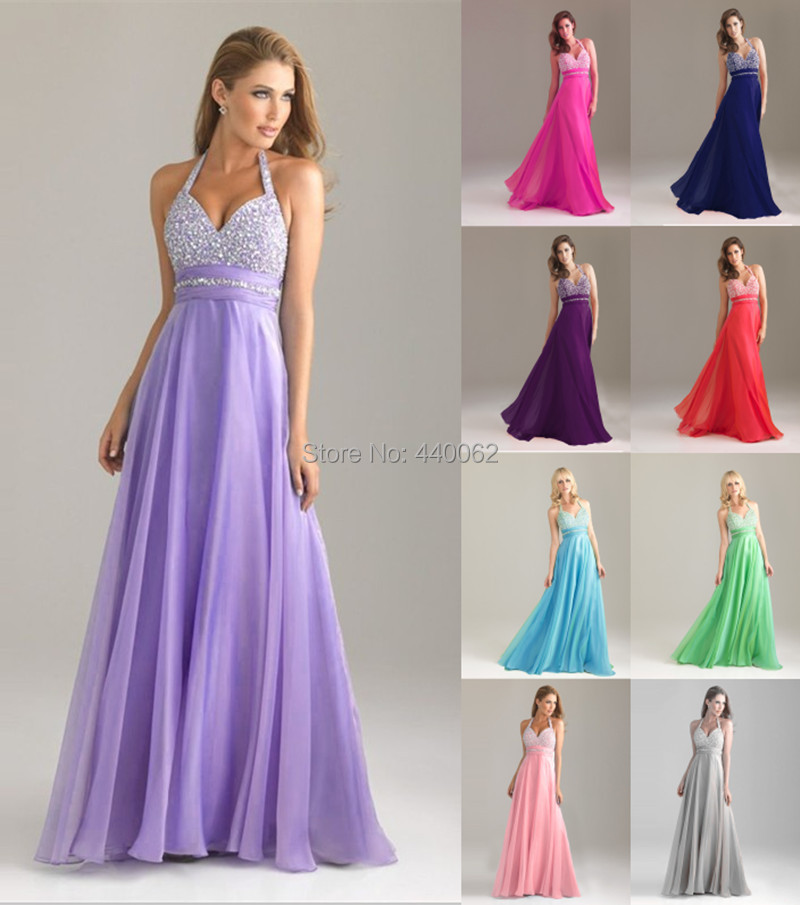 Free shipping wholesale price lavender halter sequined for Dresses for wedding party