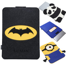 For Macbook Pro / Retina 13 inch Batman Superman Minions Cartoon Organizer Felt Laptop Bag For Macbook Air 13 inch Sleeve Cases(China (Mainland))