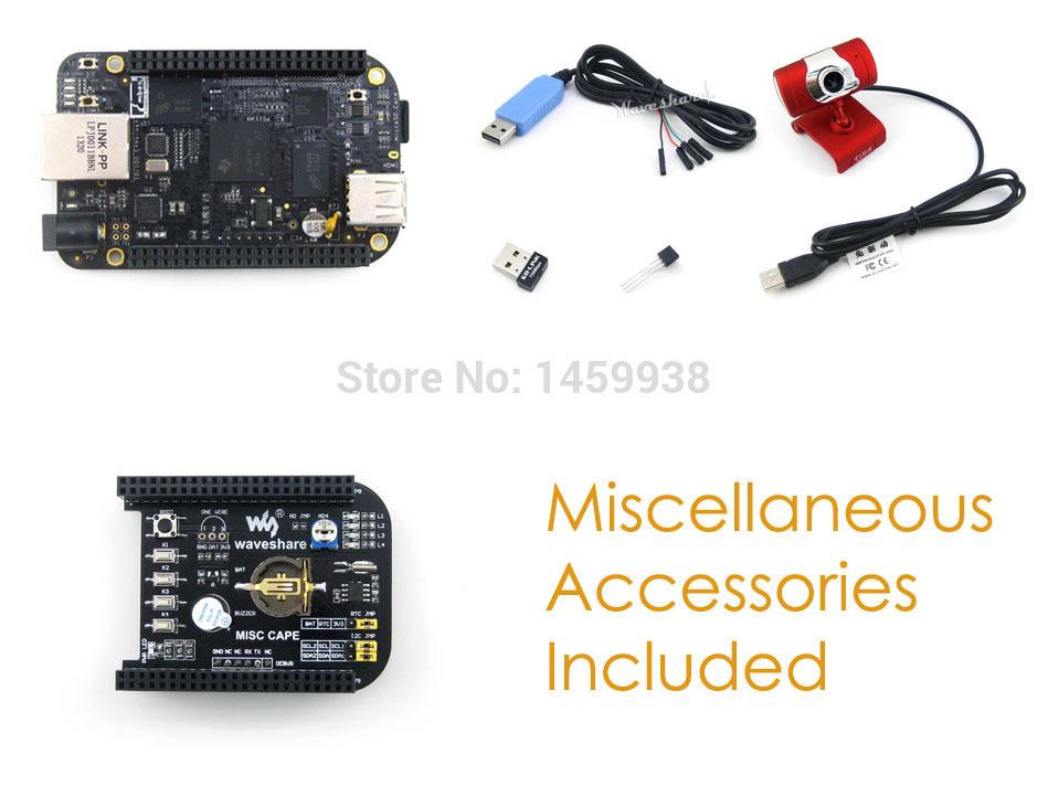 BeagleBone Black Rev C Development Board 512MB DDR3 4GB 8bit eMMC 1GHz ARM Cortex-A8 + Expansion Board CAPE + USB Camera+ Cables(China (Mainland))