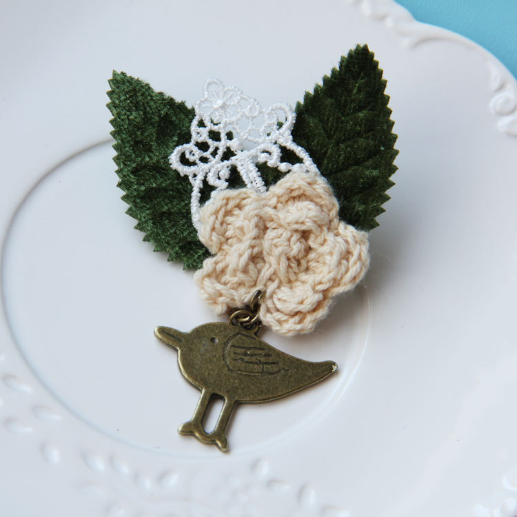 broche vintage Bird animal brooch wedding leaves lace brooch jewelry direct buy china women brooches stock(China (Mainland))