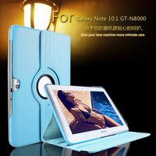 For samsung N8000 Case For Galaxy Note 10.1 GT-N8000 Tablet case N8010 360 Rotation Stand PU Leather Flip Case Free shipping