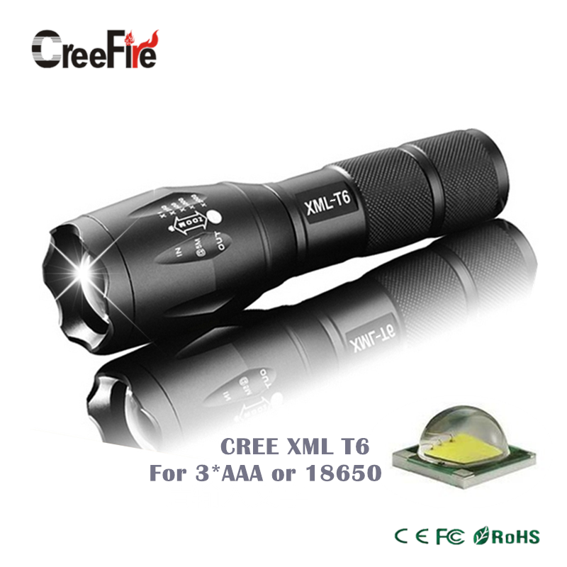 High Quality Professional 5 modes Zoomable XML-T6 LED Flashlight 3800LM Lumens lanterna Torch light(China (Mainland))