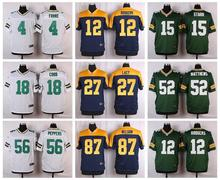 100% Stitiched,Green Bay,Aaron Rodgers,eddie lacy,Randall Cobb,Clay Matthews,Brett Favre Kenny Clark,customiza,camouflage(China (Mainland))