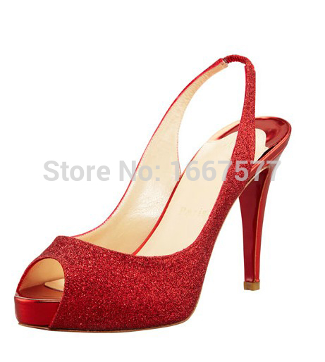 Shoesofdream Womens Thin Heel Pumps Sweet Fashion Opened Peep Toe Cone Heels Solid Platform Party Wedding Red Bottom High Heels<br><br>Aliexpress