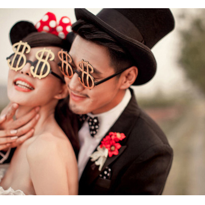 Party Men And Women Glasses $ Dollar Sign Dollars Glasses Funny Christmas Bance Party And Halloween Supplies Decorative Glasses(China (Mainland))