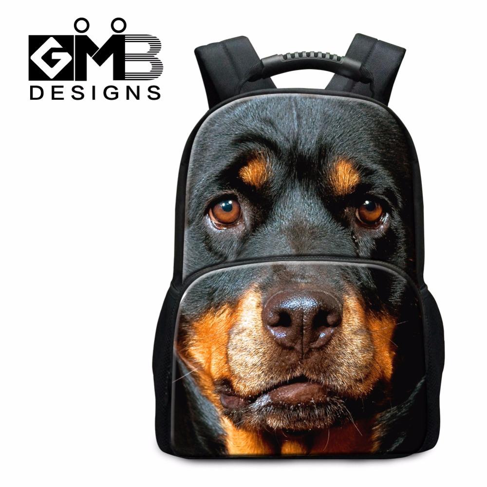 Dispalang School Bags Children Animal Dog Printed Backpacks Girls 3D Pattern Mochilas Teenager Boys Tiger Cat Back Pack
