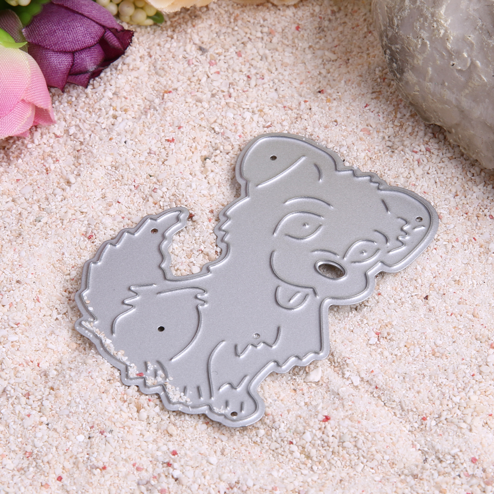 Cute Dog Metal Cutting Dies Stencils DIY Embossing Scrapbooking for DIY Die Cut Stencil Decorative Scrapbooking Craft Card Decor