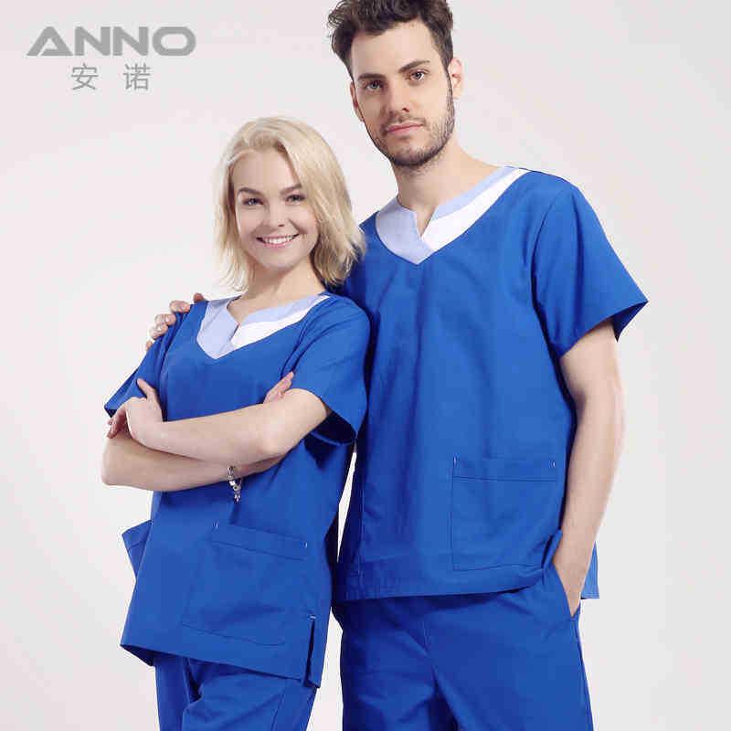 2015 new breathable V-neck nurse doctors surgical scrub sets uniforms women&amp;men hospital gowns short sleeve 4XL AnnoОдежда и ак�е��уары<br><br><br>Aliexpress