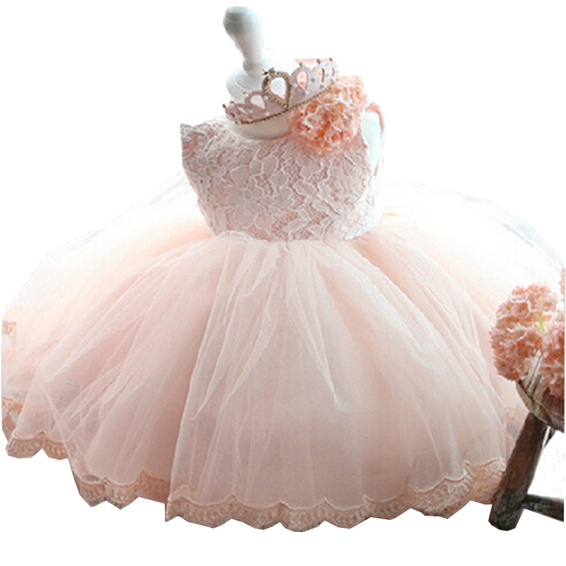 2017 Hot Sell Little Girl Dress 1 Year Birthday Dresses for Girls Kids Princess Party Dresses Baby Clothing for Teenage Girls(China (Mainland))