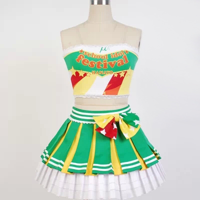 Japanese Anime Love Live Koizumi Hanayo Green Cosplay Costume Lolita Cheerleading Uniforms Plus SizeОдежда и ак�е��уары<br><br><br>Aliexpress
