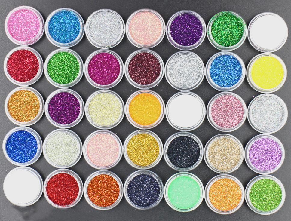 1Pot Fashion 45 Colors UV Gel Nail Art Glitters Dust Powders For Acrylic Powders Nail Art Decoration Tips DIY.(China (Mainland))