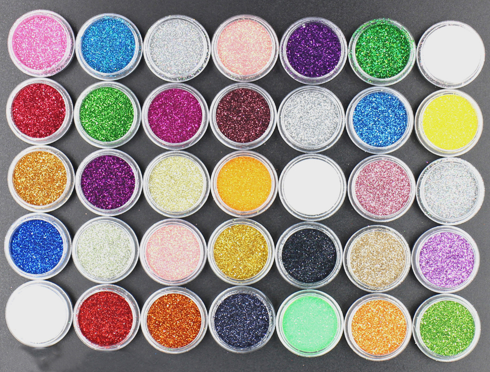 1Pot Fashion 45 Colors UV Gel Nail Art Glitters Dust Powders For Acrylic Powders Nail Art Decoration Tips DIY.(China (Mainland))