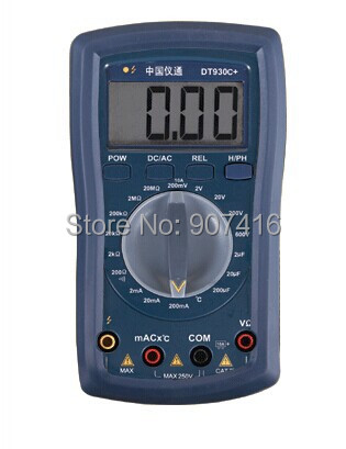 DT930C+ DT930C+All-ranges proection DMM with capacitor checking and TEMP testing Digital Multimeter(China (Mainland))