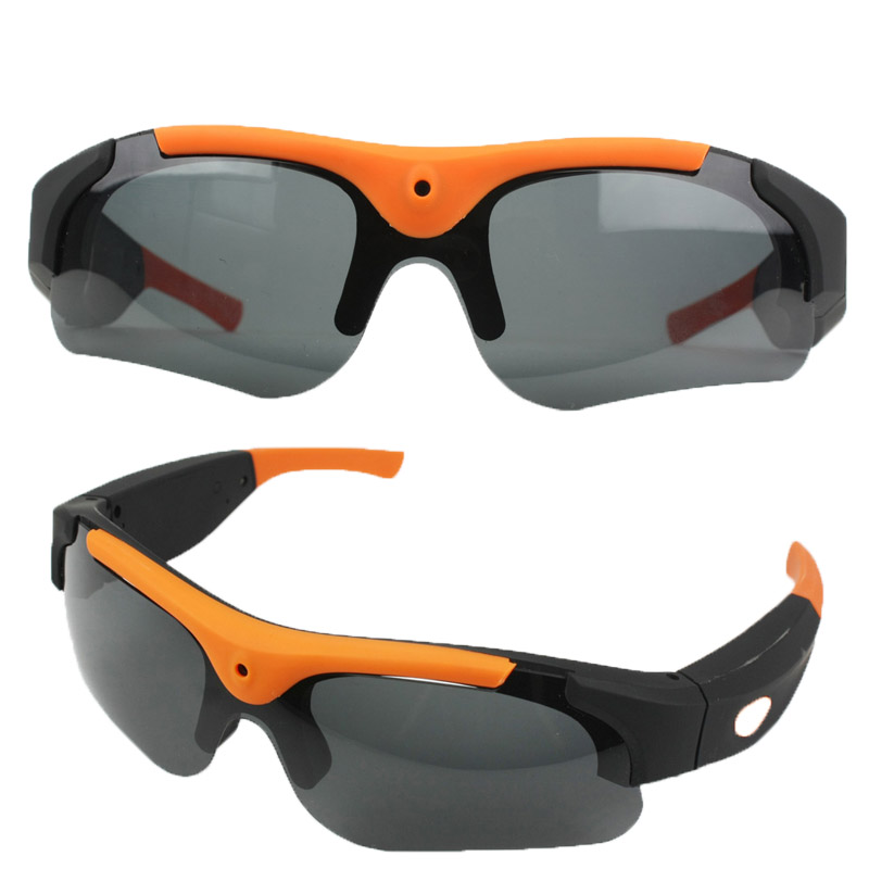 New 8GB/16GB/32GB Camera Smart Glasses Black/Orange Polarized Lens HD 1080P Sung