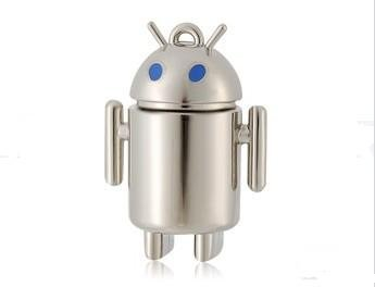 Free Shipping Metal Blue Eyes Android Robot Shaped 16GB USB Flash Drive (Blue)